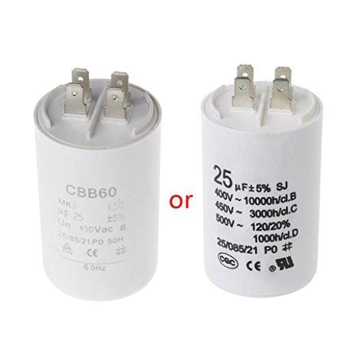 BouT AC450V 25UF Kondensator, Motor-Elektrolytkondensator-Sortiment, CBB60-Kondensatoren Für LCD-Fernseher Ersetzen, Langlebige Langlebige Kondensatoren, Kompressor-Startkondensator