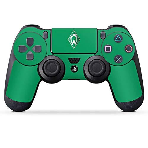 DeinDesign Aufkleber Skin Folie für Sony Playstation 4 Controller PS4 Controller Schutzfolie Werder Bremen Fanartikel Fussball