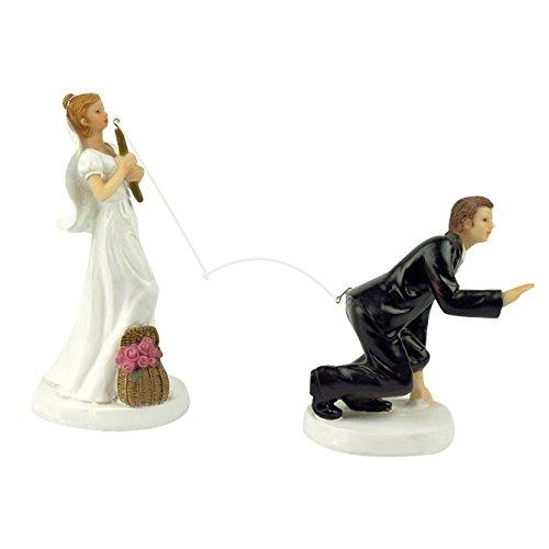 Angeln Braut Hochzeit Tortenaufsatz Brautpaar Figur 13x 7,1x 15,2cm