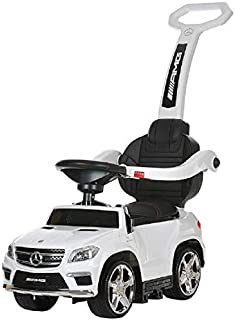 Best Ride On Cars 4 in 1 Mercedes Battery Powered Push Car, White