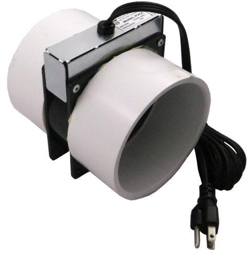 professional Tjernlund PVC4 Radon Reduction Fan Model – 6ft Power Cord, Minimum Power Exhaust Fan…