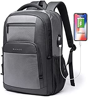 شنطة ظهر لاب توب للرجال حقيبة سفر مزوده بمنفذ USB واتربروف