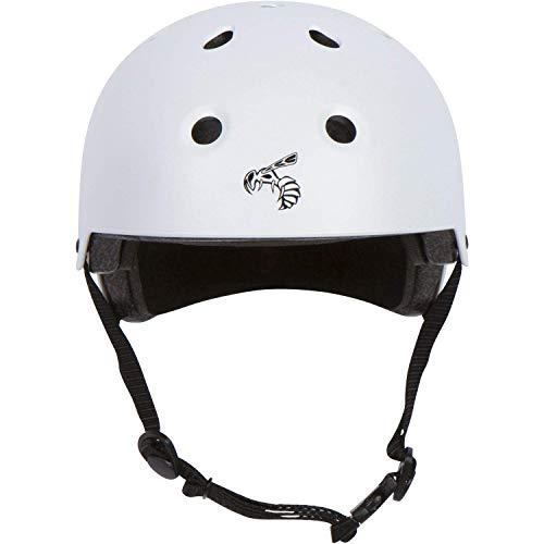 Yellow Jacket Certified Skateboard Helmet Certified Impact Resistance Ventilation Multi-Sport, Cycling, Skateboarding, Scooter, Longboard Helmet for Kids, Youth, Men, Women (White Lightning, X-Small)