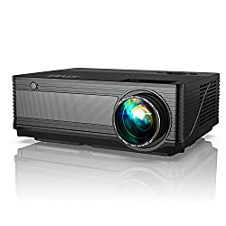 top rated YABER Y21 Native Projector 1920 x 1080P Video Projector 6800 Lux Upgrade Full HD, ± 50 ° 4D Keystone… 2021