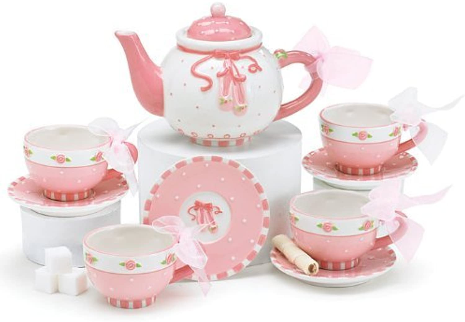 Ballerina Ballet shoes Miniature Tea Set Beautiful Keepsake