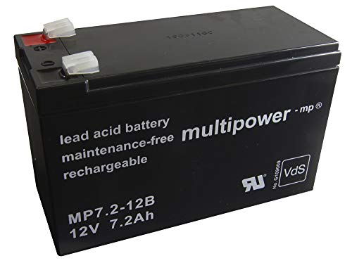 Gopacks Original Multipower Bleigel Akku AGM-Technik Lead Acid Battery für Treppenlift Lifta KTL 260 KTL260 Klassik 5000 5100 Accu Batterie Battery Bateria