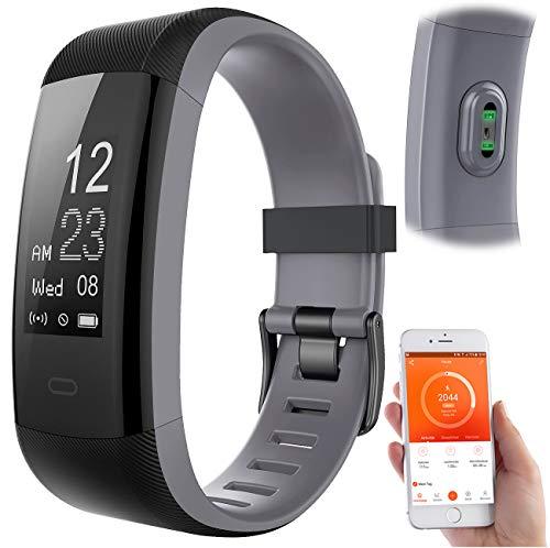 Newgen Medicals Fitness Tracker: Premium-GPS-Fitness-Armband, XL-Touchdisplay, Puls, 14 Sportarten (Sportuhren)