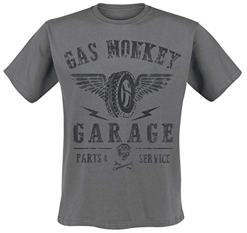 Gas Monkey Garage Heren T-Shirt Gmg Tyres Parts Service