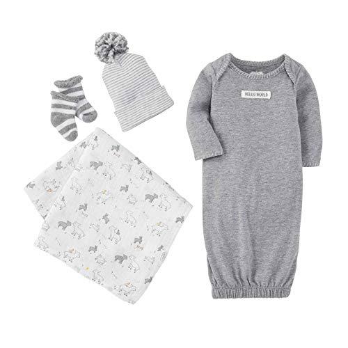 Mud Pie Baby Boys' Grey Newborn TAKE ME Home Layette Set Toddler Sleepers,...
