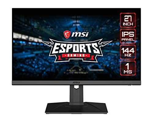 MSI Optix MAG275R - Monitor Gaming de 27' FullHD 144Hz (1920 x 108, ratio 16:9, Panel IPS, 1 ms respuesta, brillo 250 nits) negro