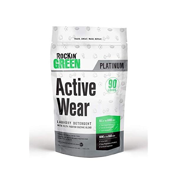 Rockin' Green Platinum Series Active Wear Laundry Detergent Powder, 45 oz....