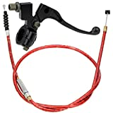 HIAORS Red Clutch Cable with Adjuster and 7/8'' Handlebar Left Black Clutch Lever for Apollo 125 50cc Chinese 70cc 90cc 110cc SSR 125cc SDG Coolster Baja Thumpstar Dirt Pit Bike