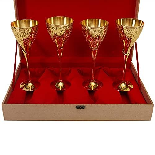 Copa de vino chapado en oro de 24 quilates Quadra