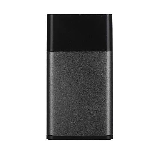 ASHATA P10-serie draagbare mini mobiele harde schijf type C USB 3.01-opslag voor foto's, video's en bestanden voor computertelefoons (zwart-zilvergrijs), 120 g.
