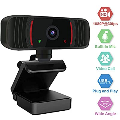 Peteme Web Cameras with Microphone for Computers,1080P HD Webcam Streaming Computer Web Camera - USB Computer Camera for PC Laptop Desktop Video Calling, Conferencing