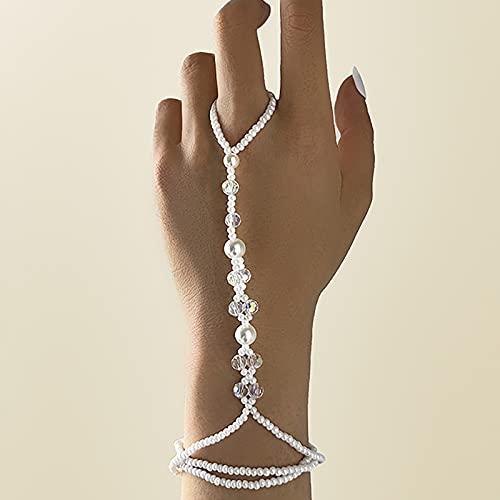 baidicheng Pulsera de cadena de dedo con anillo de dedo de oro mariposa enlace muñeca cadena para mujeres Lady Fashion Estética 2021 joyería (color metal: S0523)