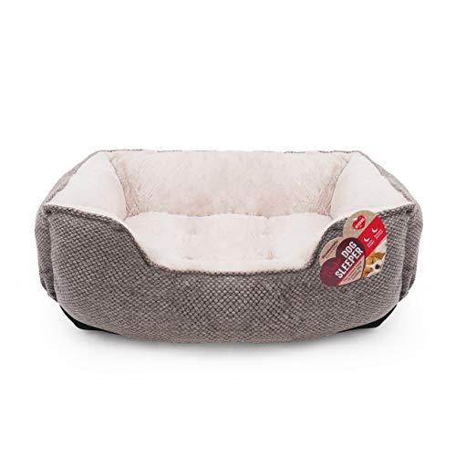 Rosewood 04416 Luxus-Hundebett Small aus kuschelig weichem Pelz, quadratisch und mit Rutschfester Unterseite, Maschinenwäsche, 46x36cm