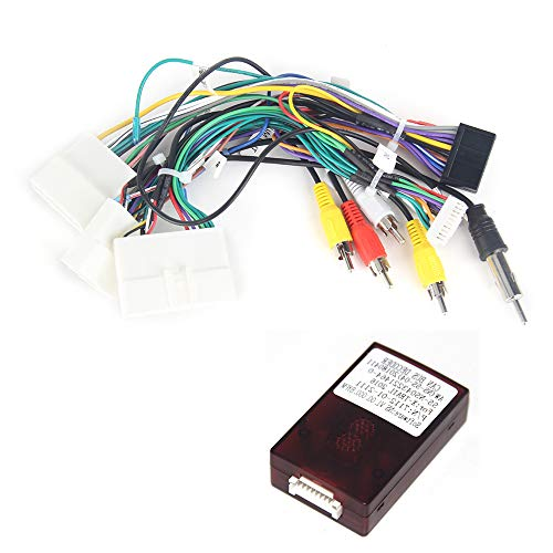 """Dasaita CB008 Auto Radio Coche Adaptador Cable Conector con Canbus para Nissan X-Trail Qashqai 2014-2017 con Pantalla Original de 7\"""" Soporta Cámaras 360°(Solo para Radio Coche Dasaita)"""