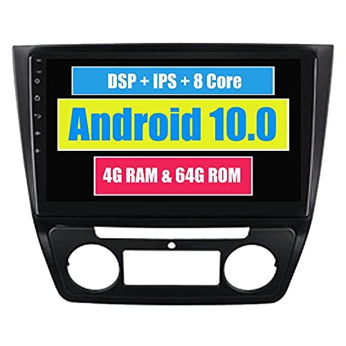 RoverOne 10,2 Pouces Système Android Octa Core Autoradio Lecteur GPS de Voiture pour Skoda Yeti 2014 + avec Navigation Radio stéréo Bluetooth Mirror Link Full écran Tactile