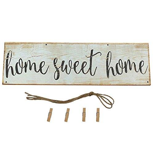 Homeofying Vintage Sweet Home Letra Impresa de Madera para Colgar en la Pared decoración de la Foto Clip Adorno