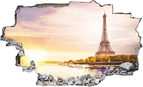 Paris Eiffelturm Frankreich Wandtattoo Wandsticker Wandaufkleber C0840 Größe 40 cm x 60 cm