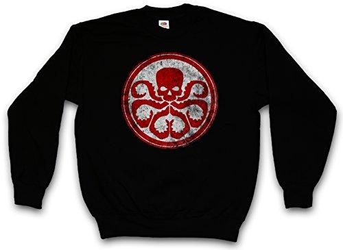 Urban Backwoods Hydra Vintage Logo II Sweatshirt Pullover Sweater Pull Noir Taille S