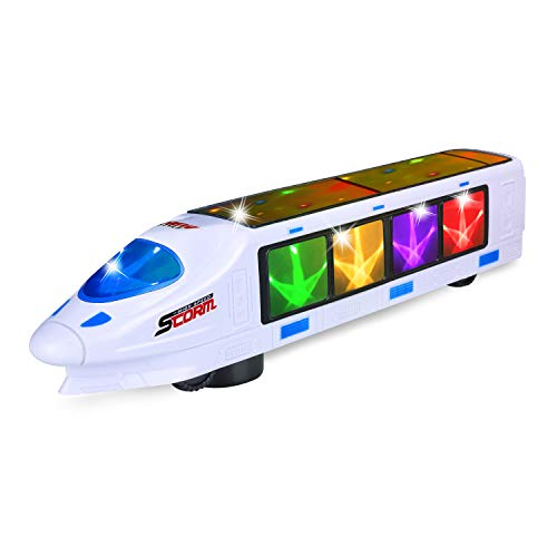 FUGZ Toys Gifts for 2-6 Year Old Boys, Kids Beautiful 3D Lightning Electric Train for Age 2, 3, 4, 5, 6 Year Old Boys Girls Best Toys Gift