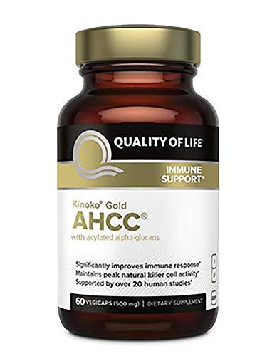 Kinoko Gold AHCC Capsules - 60 Vegicaps / 500mg by Qaulity Of Life Labs