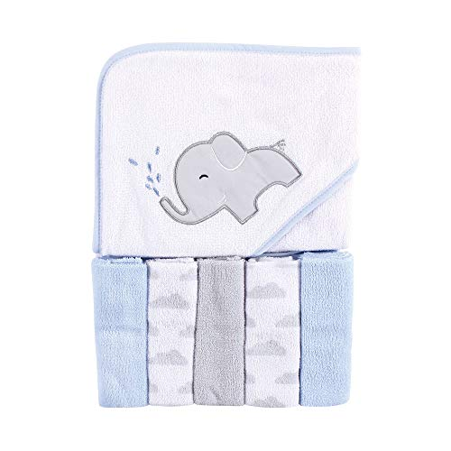 Luvable Friends Unisex Hooded Baby Towel and Five Washcloths