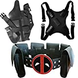 Halloween Cos Costume Waist Belt And Strap And Holster 3 Piece Suit