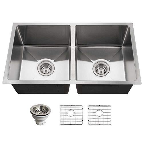 Big Sale Best Cheap Deals Houzer NOD-4200-1 Nouvelle Double Bowl Undermount Stainless Steel Kitchen Sink