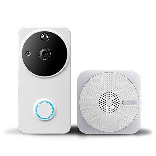 Yangsanjin video-deurintercom, draadloos, 720HD met 2-weg audio, bewegingsdetectie en draadloze verbinding, app voor iOS/Android/Windows