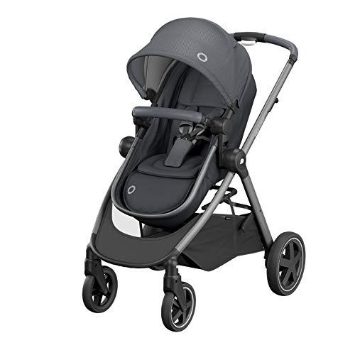 Bébé Confort Zelia, cochecito de bebé, ciudadano y ligero, asiento transformable en capazo, de 0 a 15 años (0 a 15 kg), Essential Graphite
