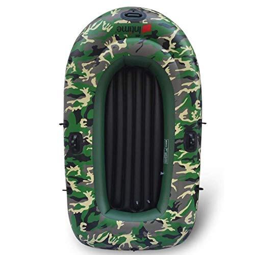 LLSZ 4-Persona Kayak Inflable Conjunto con 1 * Algodón Cuerda 1 par plástico Pulpa + 1 * Bomba de Mano + 1 Kit de reparación * + 2 * Cojín