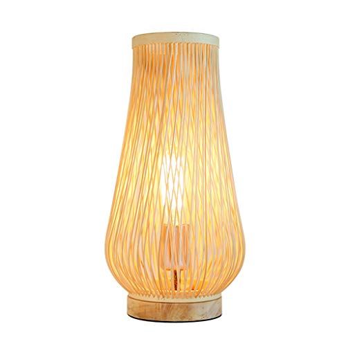 CKH Japanse bamboe veepjes bureaulamp eenvoudige slaapkamer bedlampje design kamer bar verlichting tafellamp stekker knop schakelaar