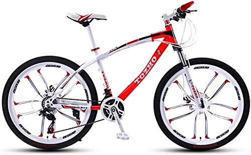 Los niños bicicleta, bici niños, bicicletas montaña, 24 pulgadas, velocidad variable bicicleta, Frenos Disco variable bici adulta hombres mujeres bicicletas montaña velocidad Choque ( Color : Red D )