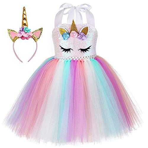 Unicorn Tutu Dress (With Headband)