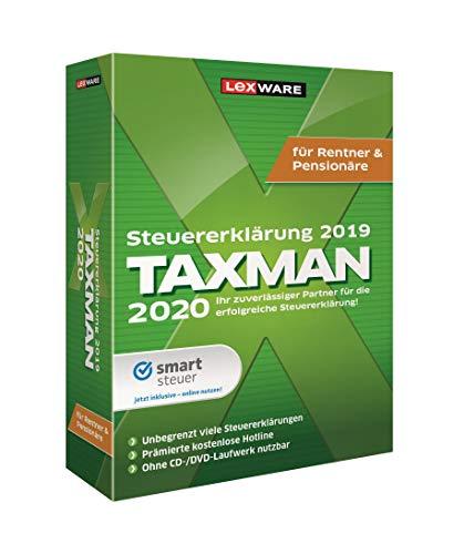 Lexware Taxman 2020 für das Steuerjahr 2019 | Minibox | Übersichtliche Steuererklärungs-Software für Rentner und Pensionäre