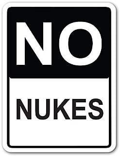 YFULL No Nukes 8x12 Inches Street Sign