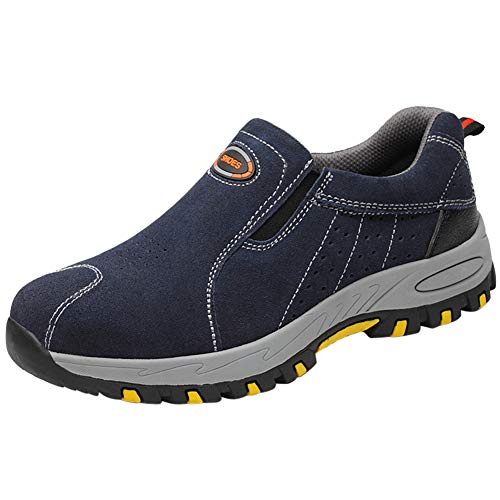 Protección Zapato Zapatillas De Seguridad para Hombres Trabajo con Tapa Acero Industria Calzado Deporte Antideslizantes Azul02 43 EU ✅
