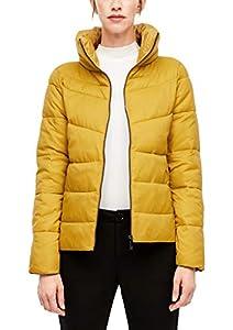 s.Oliver Damen Puffer Jacket mit Stehkragen yellow 36