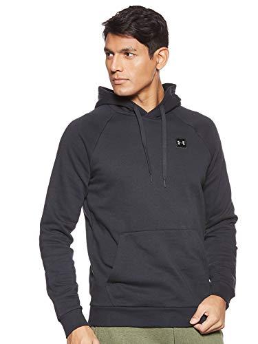 Under Armour Herren Rival Fleece Po Hoodie sportlicher Kapuzenpullover, schnelltrocknendes Sweatshirt für Männer mit loser Passform,Schwarz (Schwarz/Schwarz 001),M