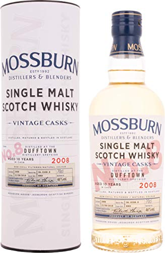 Mossburn DUFFTOWN 10 Years Old Vintage Casks Single Malt Scotch Whisky 2008 (1 x 0.7 L)