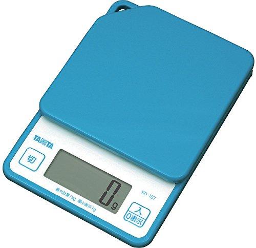 タニタ デジタルクッキングスケール 1kg ブルー KD-187-BL