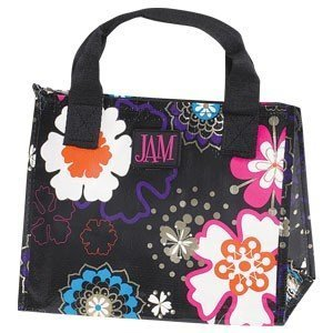 JAM Black Flower Power Insulated Lunch Bag (9 3/4) / Tote / Zippered / Durable by JAM-JoAnn Marie