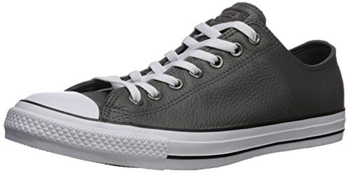 Converse Herren Chuck Taylor All Star Leather Turnschuh, Carbon Grey/White/Black, 44 EU