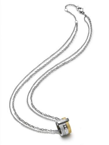Breil Collana da Donna in Acciaio Inox purea Logy Oro tj143_ 1, Acciaio Inossidabile, Colore: Oro, cod. TJ1430