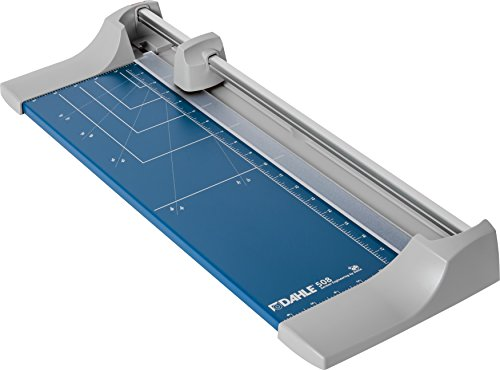 """Dahle 508 Personal Rotary Trimmer, 18"""" Cut Length, 7 Sheet Capacity, Self-Sharpening, Automatic Clamp, German Engineered Paper Cutter"""