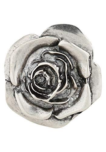 RETTUNGSRING by showroom 019° Damen Wechselschließe in elegantem Rosen-Design silber, One Size