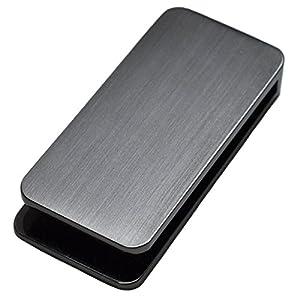 [タバラット] マネークリップ メンズ 挟む力が弱くならない 日本製 真鍮 U-clip (ブラックシルバー)